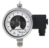 Analog pressure gauge / Bourdon tube / for gas / process