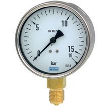 Analog pressure gauge / Bourdon tube / for gas / for liquids