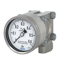 Dial pressure gauge / differential pressure / for gas / for liquids