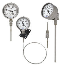 Gas thermometer / stem type gas expansion / analog / insertion