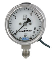 Analog pressure gauge / Bourdon tube / process / with electrical contact