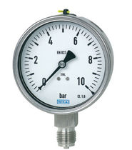 Analog pressure gauge / liquid-filled Bourdon tube / for gas / for liquids