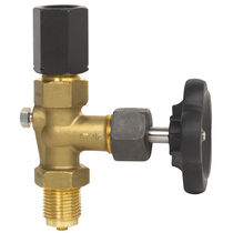 Threaded check valve / throttle / shut-off / for gas