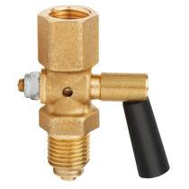 Liquid faucet / gas / for pressure gauges