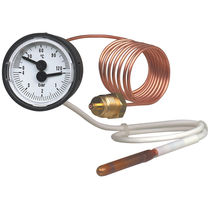 Dial pressure gauge and thermometer / Bourdon tube / for hot water / process