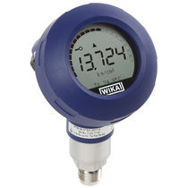 Flush diaphragm pressure transmitter / with digital display / process / stainless steel
