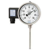 Gas thermometer / analog / compact / dial