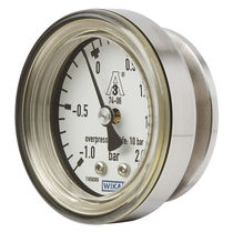 Analog pressure gauge / diaphragm / for gas / for hygienic applications