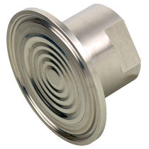 Diaphragm seal with threaded connection / for sterile environments / for pressure gauges / hygienic