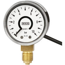 Dial pressure gauge / Bourdon tube / process / with electrical contact