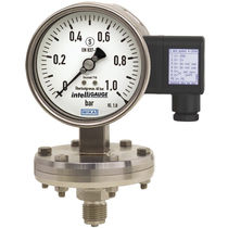 Analog pressure gauge / diaphragm / for gas / stainless steel