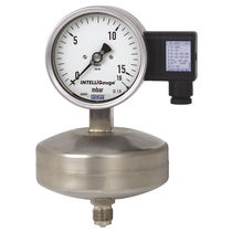 Analog pressure gauge / capsule / with electrical contact