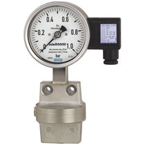 Analog pressure gauge / differential pressure / process / stainless steel