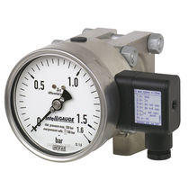 Analog pressure gauge / differential pressure / process / for gas