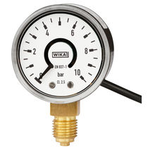 Dial pressure gauge / Bourdon tube / with electrical contact / non-contact