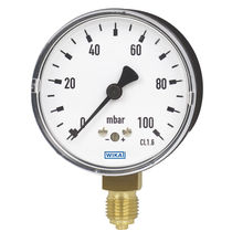 Analog pressure gauge / capsule / for gas / for vacuum