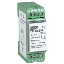 DIN rail mount temperature transmitter / thermocouple / analog / compact