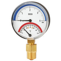 Bimetallic thermometer / analog / screw-in / dial