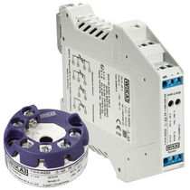 Digital temperature transmitter / DIN rail mount / probe head-mounted / Pt100