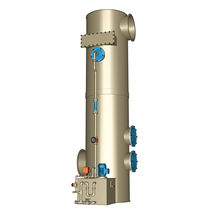 Counter-current gas scrubber / wet type / chemical / high-efficiency