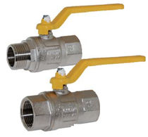 Ball valve / manual / shut-off / for gas