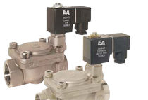 Pilot-operated solenoid valve / 2/2-way / NC / gas