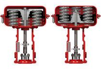 Linear valve actuator / pneumatic / spring-return / membrane