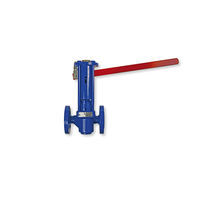 Plug valve / lever / drain / for water
