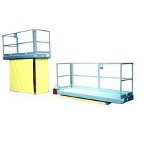 Work platform / with safety railing / hydraulic