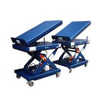 Scissor lift table / hydraulic / mobile / tilting