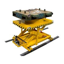 Scissor lift table / manual / rail-mounted