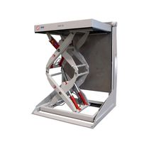 Double-scissor lift table / hydraulic / tilting