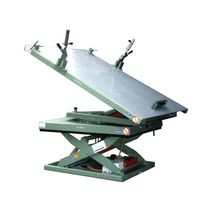 Scissor lift table / hydraulic / tilting / rotating