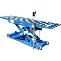 Scissor lift table / hydraulic / mobile / roller