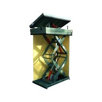 Double-scissor lift table / bellows / hydraulic / tilting