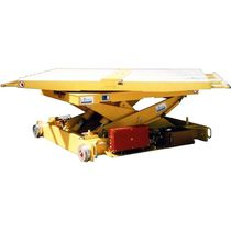 Scissor lift table / hydraulic / rotating / rail-mounted