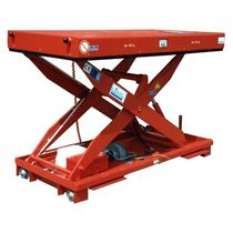 Scissor lift table / hydraulic / rail-mounted