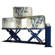 Tandem scissor lift table / hydraulic / loading