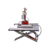 Scissor lift table / hydraulic / with E-shaped platform