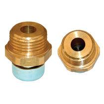 Hexagonal plug / threaded / brass / vented