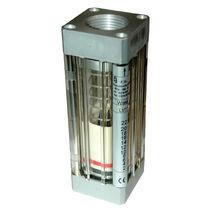 Variable-area flow meter / for liquids / plastic tube / aluminum
