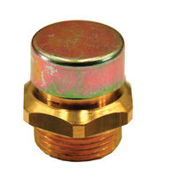 Hexagonal plug / threaded / brass / oil filler and breather