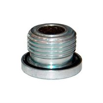 Round plug / threaded / galvanized steel / with embedded magnet