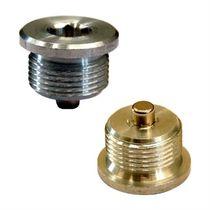 Round plug / threaded / brass / aluminum