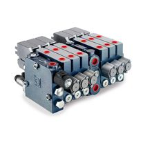 Electro-hydraulic hydraulic directional control valve / modular / compact