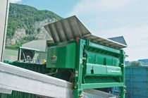 Single-shaft shredder / waste / rugged