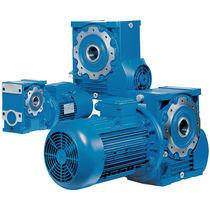 Orthogonal electric gearmotor / worm / hollow-shaft
