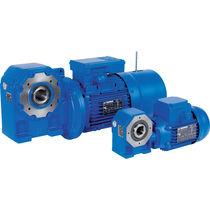 Orthogonal electric gearmotor / worm / modular / hollow-shaft