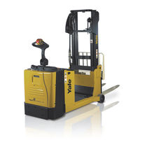 Electric stacker truck / walk-behind / for pallets / for warehouses