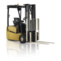 Electric forklift / ride-on / narrow-aisle / counterbalanced